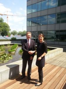 Eric Lepine, CECE-Präsident (links) freut sich auf die Zusammenarbeit mit der neuen CECE-Generalsekretärin Sigrid de Vries (rechts)                                      Foto: CECE