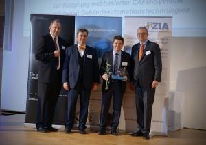 v.l. Thomas Zinnöcker, Dr. Georg Allendorf, Dr. Asbjörn Gärtner, Prof. Dr. Matthias Thomas (Foto: TU Kaiserslautern)