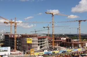 Blick auf die Baustelle (Foto: Flughafen Stuttgart)