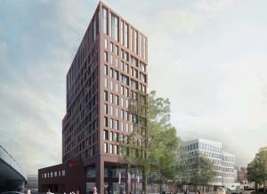 """Visualisierung Ramada Hotel """"Hamburg City Center"""" © Störmer Murphy and Partners, Hamburg"""