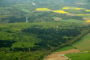 Baustelle des Windparks Ravenstein von Green City Energy (Foto: Green City Energy)