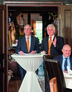 Reinhard und Hermann von der Wehl bei der Feier zum 50jährigen Jubiläum (v.l.)