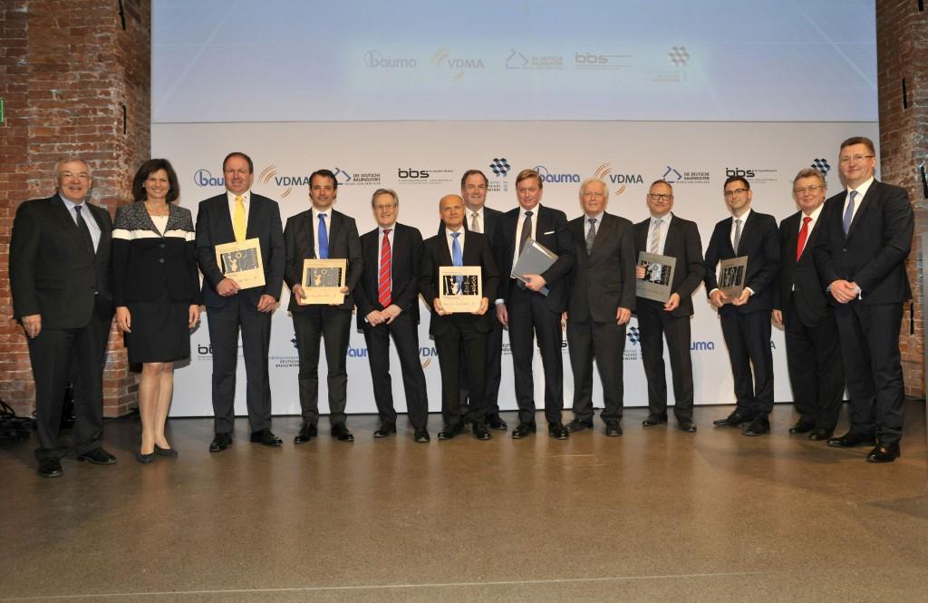 Die Gewinner des bauma Innovationspreises 2016 in der Allerheiligen Hofkirche, München                                                                                                     Quelle: VDMA